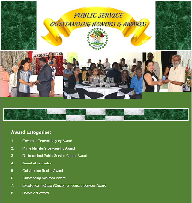 Public Service Outsatanding Honors and Awards banner 640