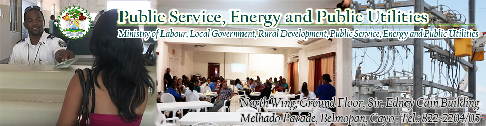 Belize Ministry of Public Service, Energy and Public Utilities