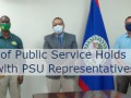 Minister of Public Service Holds Meeting with PSU Representa ... Image 1