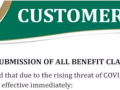 SSB Customer Notice - Electronic Submission of All Benefit C ... Image 1